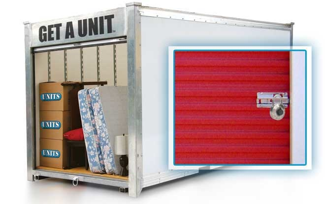 units container features its own locking system