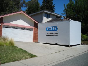 portable and mobile storage in Moraga in front on home